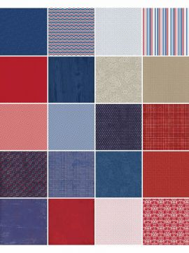 Red, White & Beautiful by Katie Pertiet Designer Cardstock