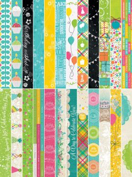 Party Bright's by Katie Pertiet  Border Strips