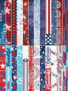 Red, White & Beautiful by Katie Pertiet Border Strips