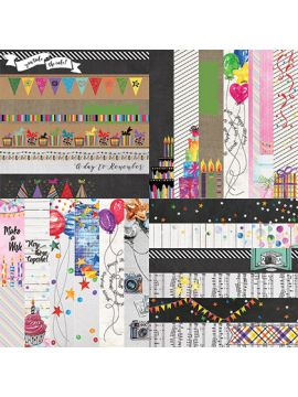 Everyday Birthday Border Strips - Wonder Collection by Lauren Hinds