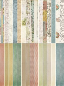 Pocket Vintage  by Katie Pertiet Pocket Border Strips - Set 30
