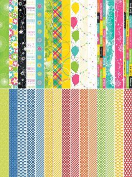 Pocket Party  by Katie Pertiet Pocket Border Strips - Set 30