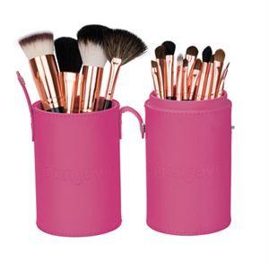 Mineral Makeup Brush Kit Pink Case