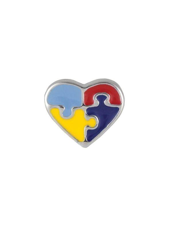 Autism Heart Charm