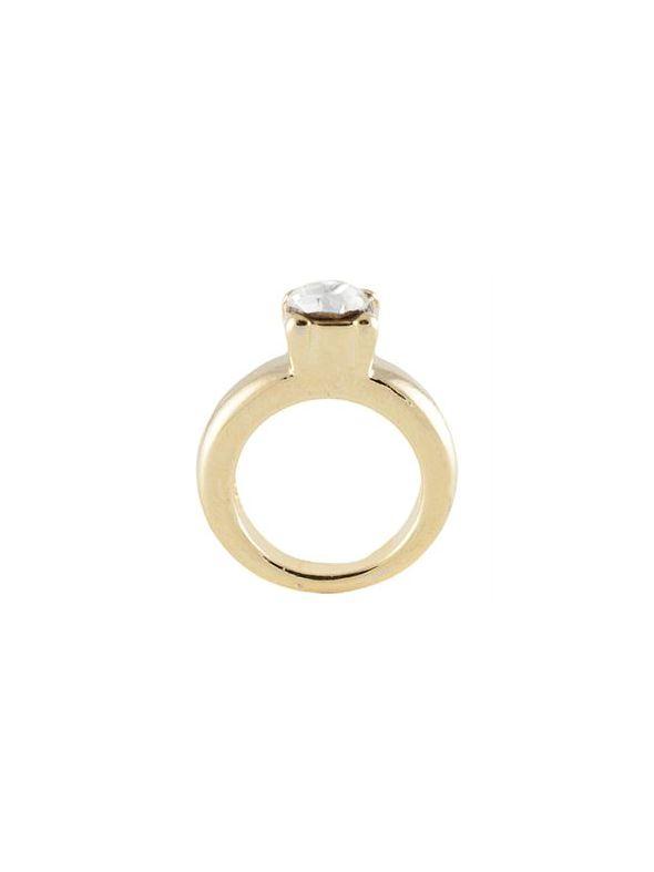 Gold Wedding Ring Charm