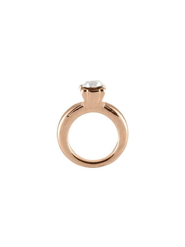 Rose Gold Wedding Ring Charm