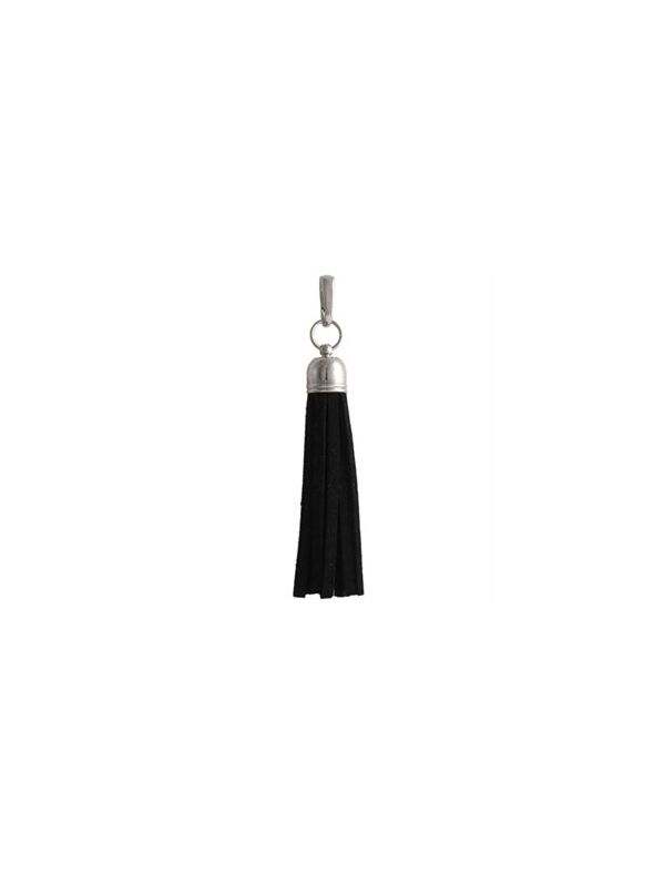 Black Leather Tassel