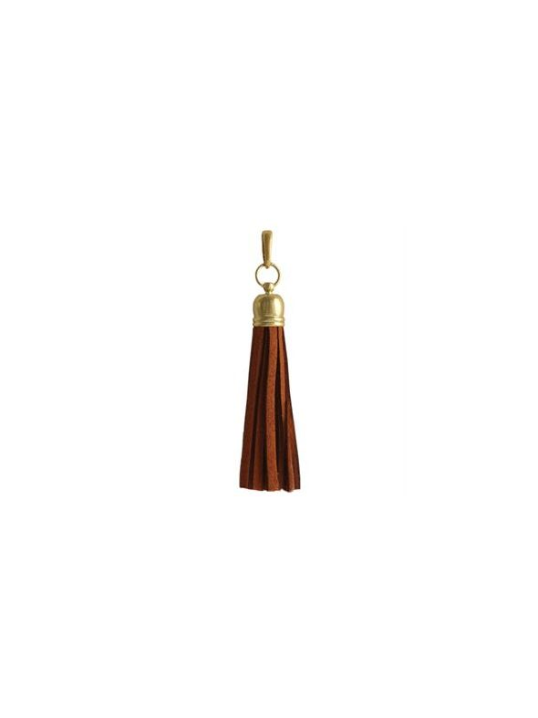 Cognac Leather Tassel