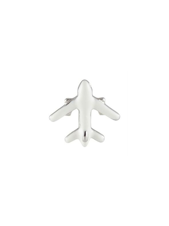 White Airplane Charm