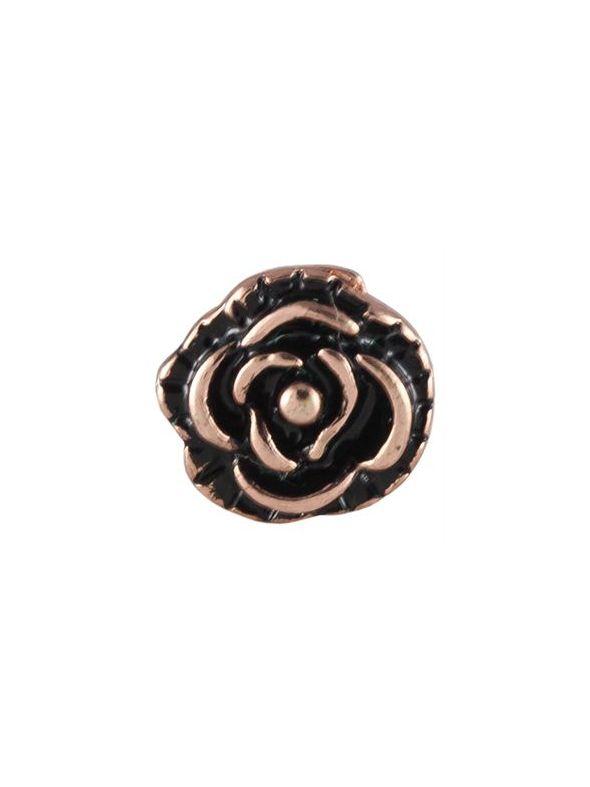 Rose Gold Vintage Rose Charm