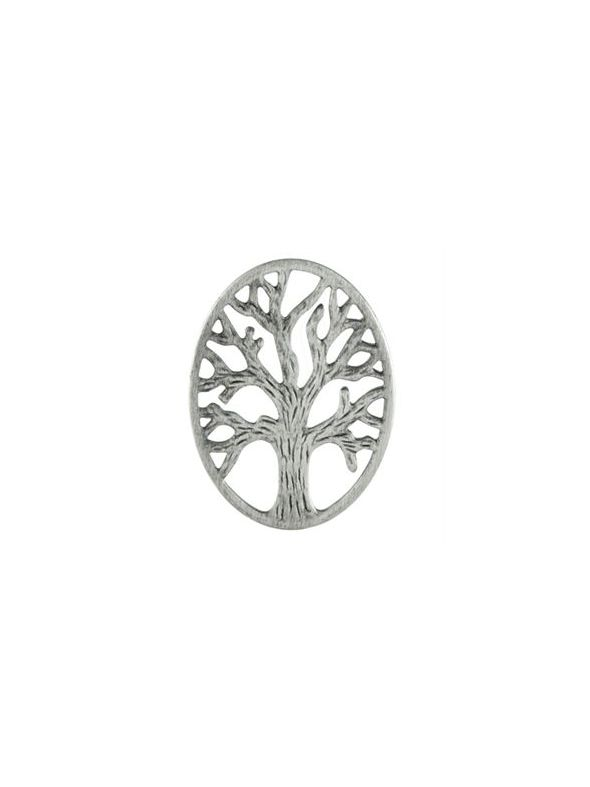 Silver Tree of Life Oval Screen