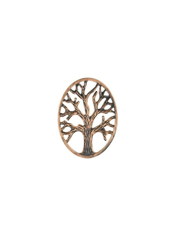 Rose Gold Tree Of Life Oval Screen