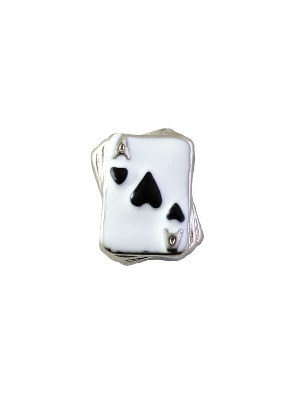 Black Ace of Hearts Charm