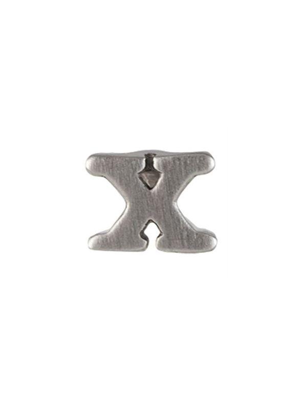 Silver 'X' Slider Charm