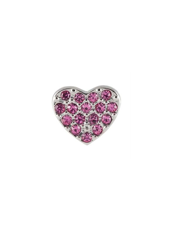 Crystal Pink Heart Charm