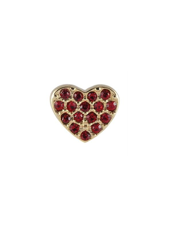 Crystal Red Heart Charm