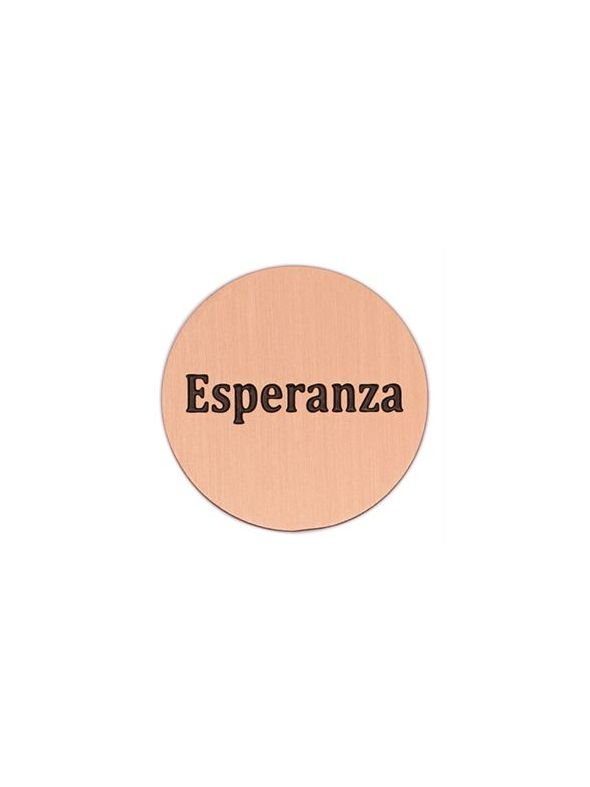 'Esperanza' Large Rose Gold Coin