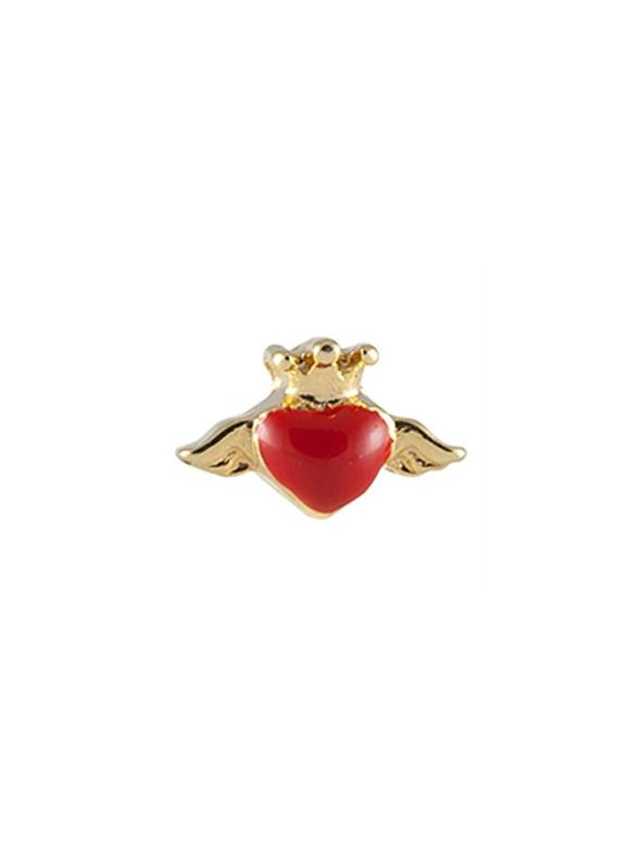 Red Heart with Wings Charm