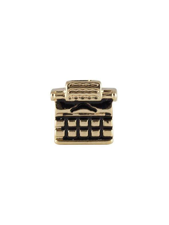 Gold Typewriter Charm