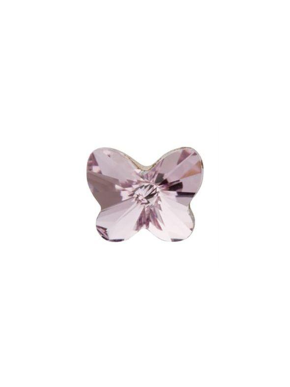 Amethyst Butterfly Charm