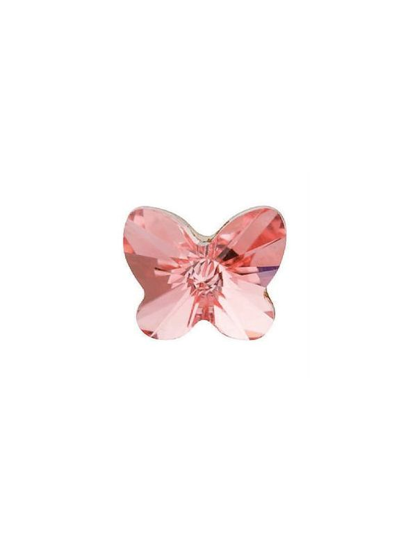 Peach Rose Butterfly Charm