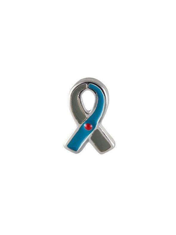 Blue/Grey Ribbon: Juvenile Diabetes Charm