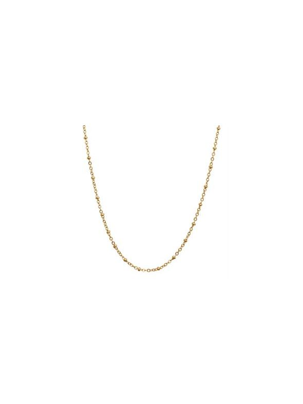 Nickel-Free Gold Faceted Bead Chain - 32""