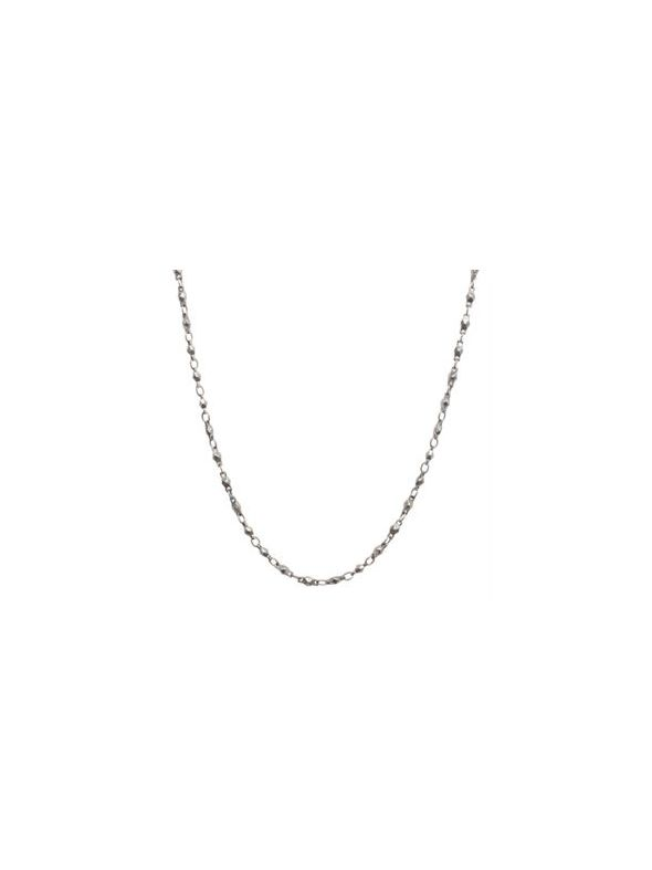 """Nickel-Free Silver Multifaceted Link Chain - 28"""""""
