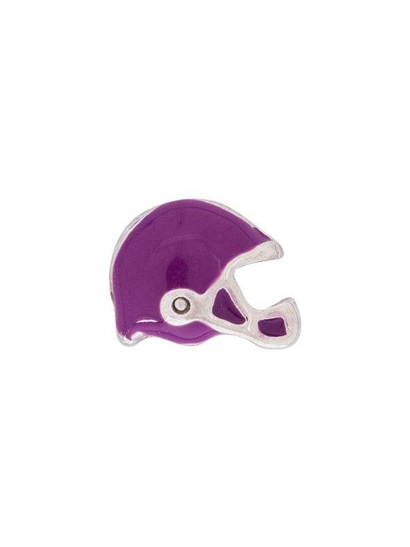 Purple Football Helmet Charm