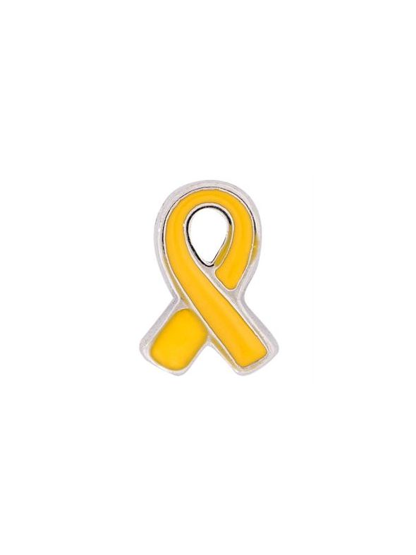 Yellow Ribbon: Support Our Troops Charm