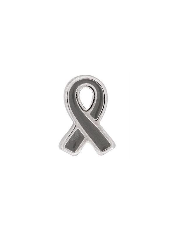 Grey Ribbon: Brain Cancer Charm