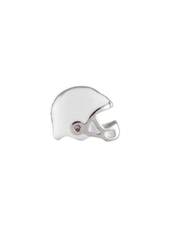 White Football Helmet Charm