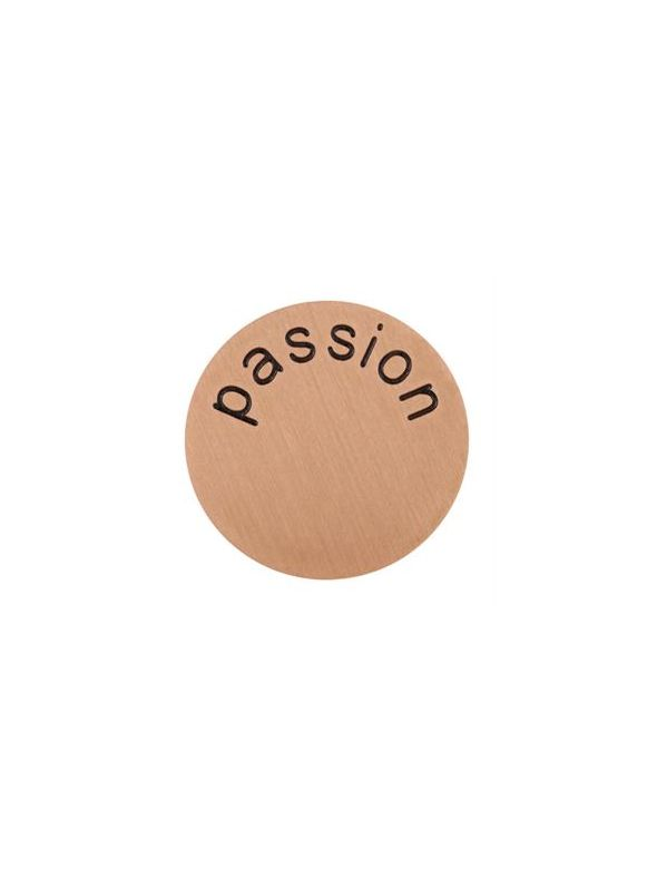 'Passion' Large Rose Gold Coin