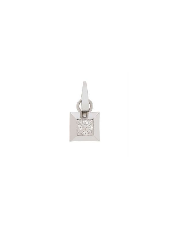 Crystal Square Silver Droplet