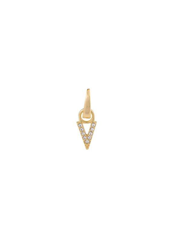 """Gold Crystal """"V"""" Droplet"""