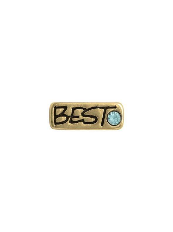 'Best' Gold Charm