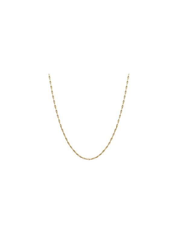 """Nickel-Safe Gold Elongated Cable Chain: 28"""""""