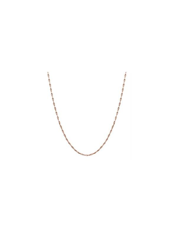 """Nickel-Safe Rose Gold Elongated Cable Chain - 28"""""""