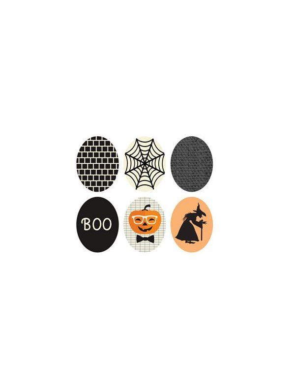 Halloween Oval Locket Backdrops