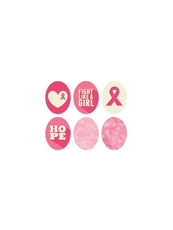 Breast Cancer Awareness Oval Locket Backdrops