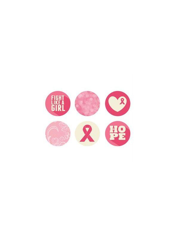 Breast Cancer Awareness Large Locket Backdrops