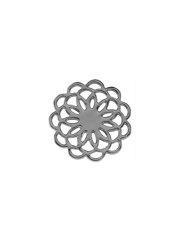Large Silver Flower Screen
