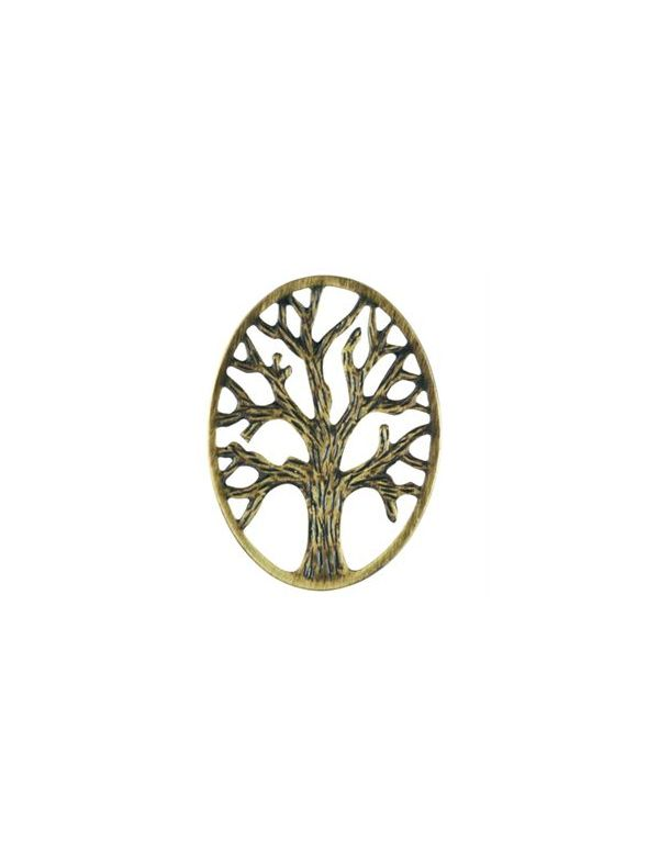 Gold Tree Of Life Oval Screen