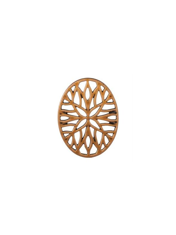 Rose Gold Vintage Mosaic Oval Screen