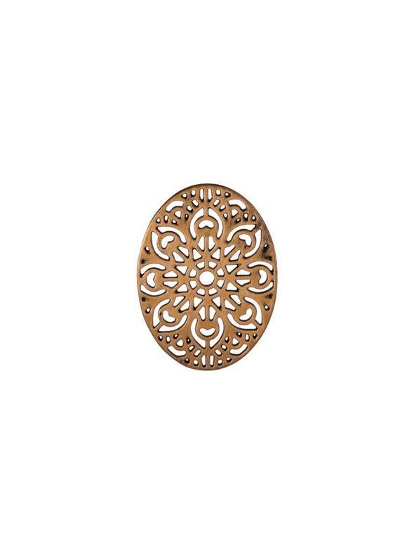 Rose Gold Ornate Vintage Oval Screen
