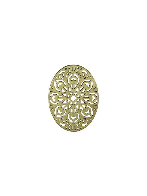 Gold Ornate Vintage Oval Screen