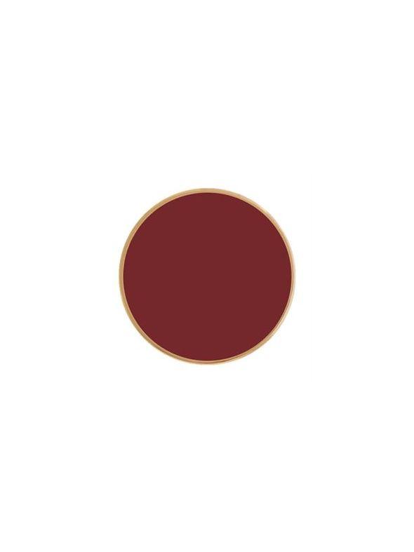 Medium Burgundy Enamel Coin