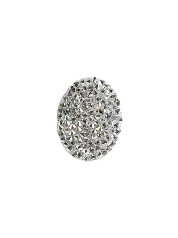 Oval Hematite Crystal Embellishment