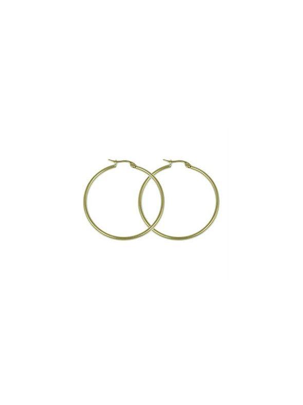 Gold Round Hoop Earrings
