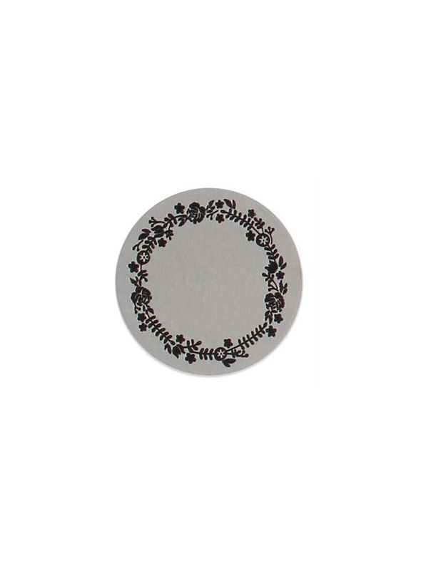 Large Silver Floral Wreath Coin